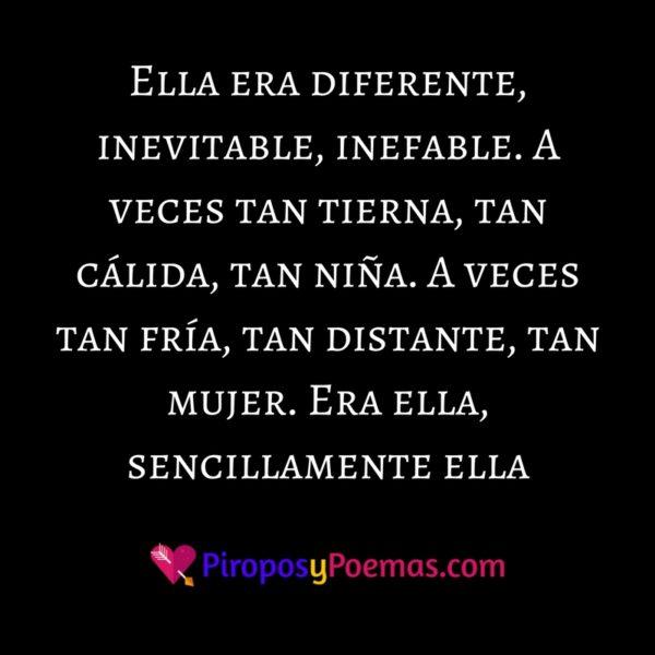 Ella era diferente