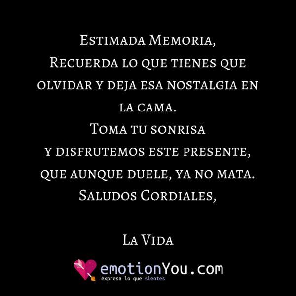 Estimada Memoria