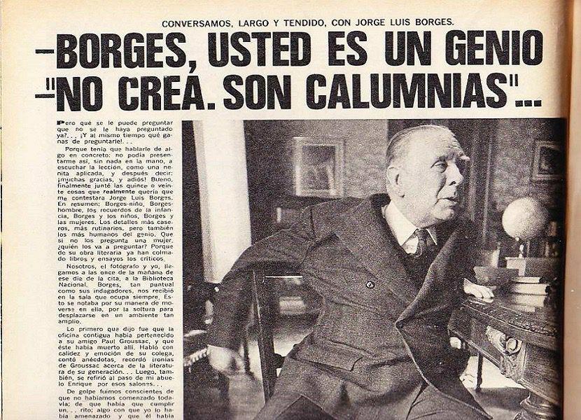Borges usted es un genio