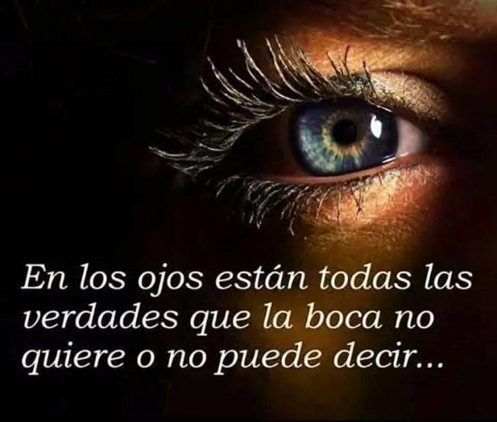 En los ojos