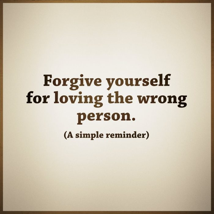 Forgive yourself / Perdonate