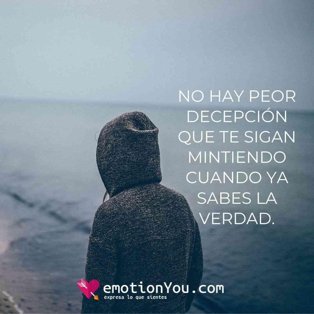 No hay peor decepción