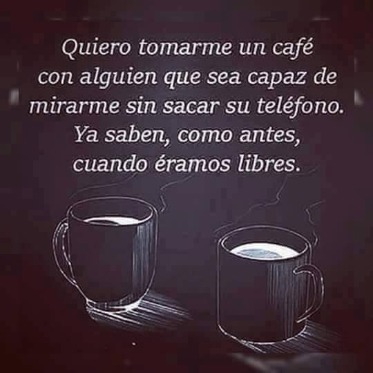 Quiero tomarme un café
