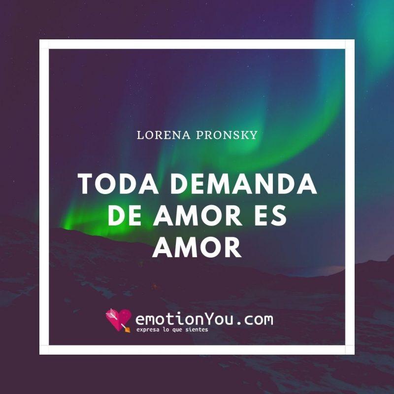 Toda demanda es demanda de amor