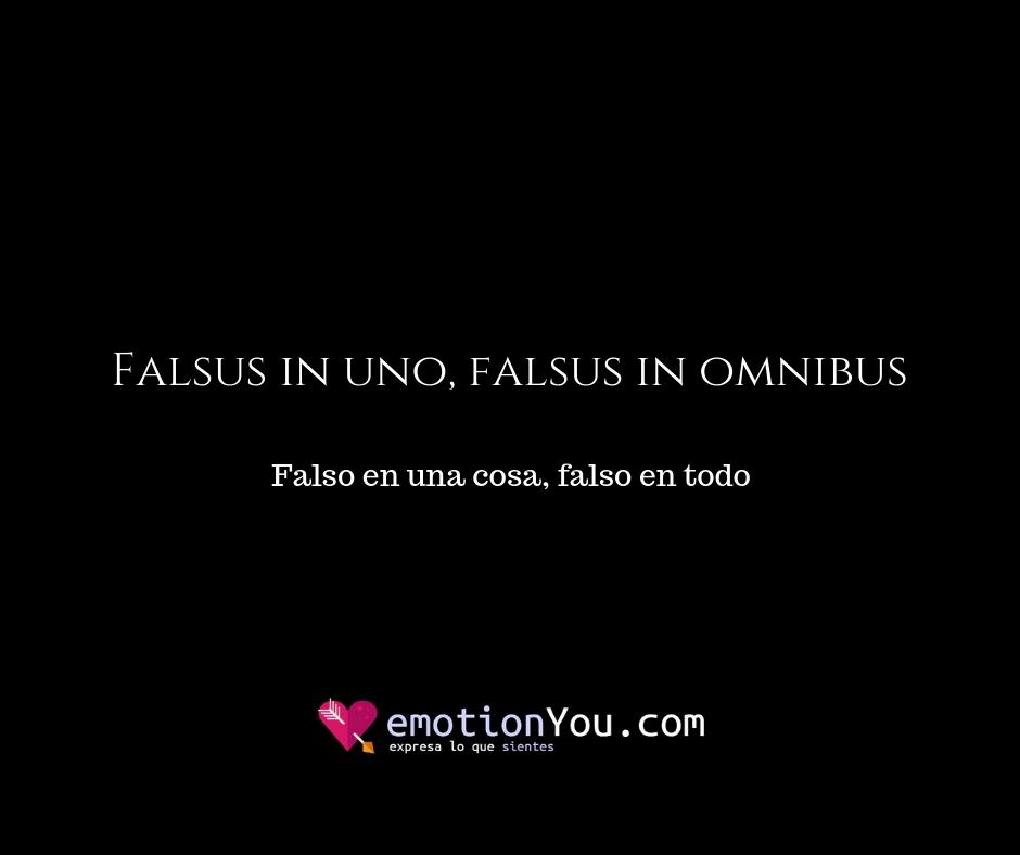 Falsus in uno