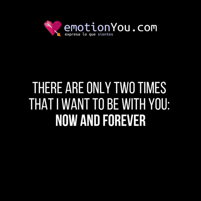 There are only two times