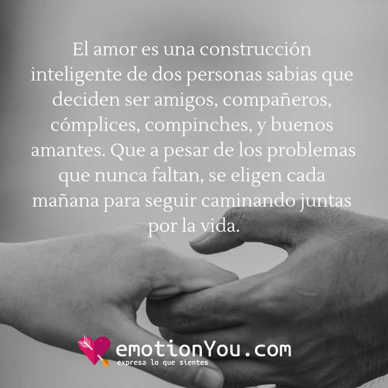 El amor es una construcción inteligente