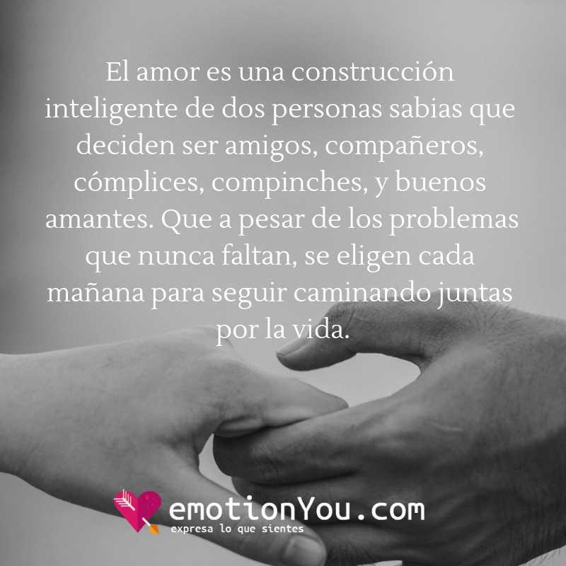 El amor es una construcción inteligente