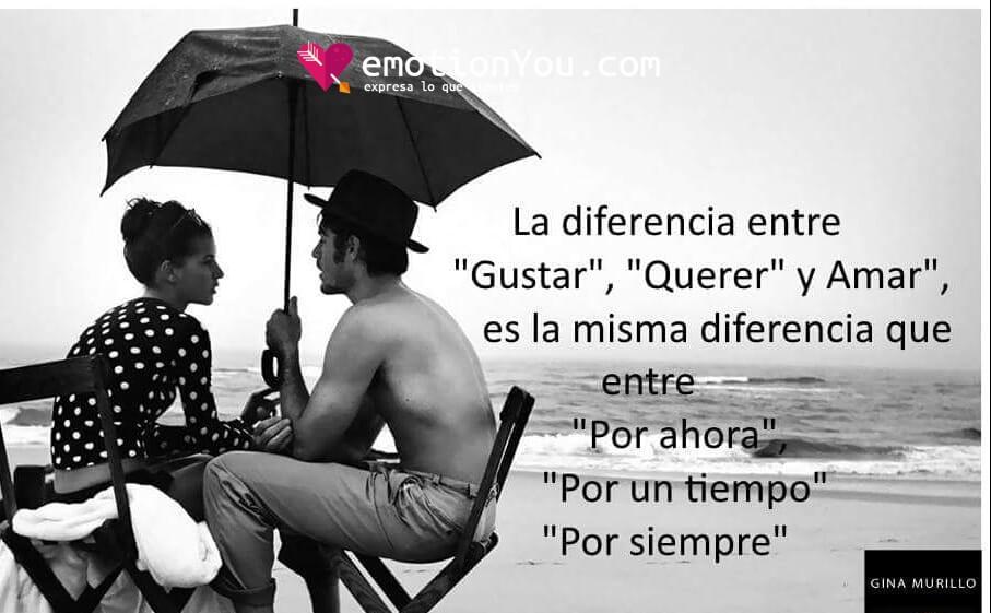 La diferencia entre «Gustar», «Querer» y «Amar»