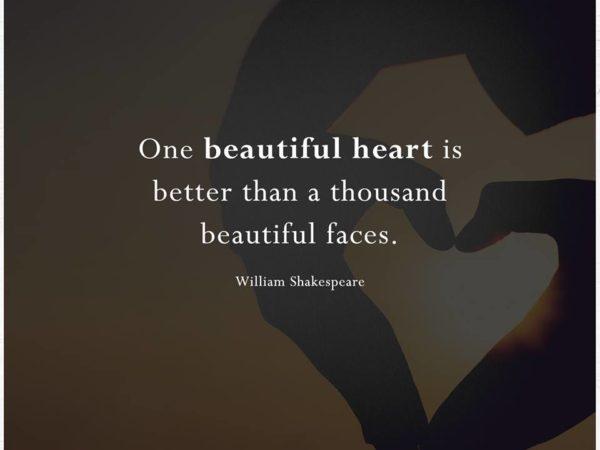 One beautiful heart