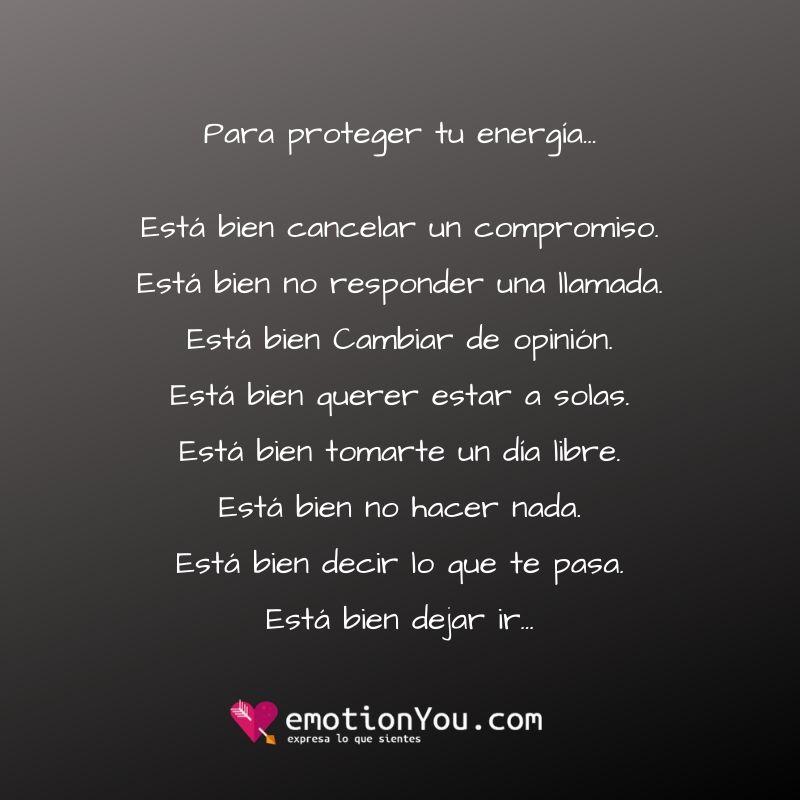 Para proteger tu energía…