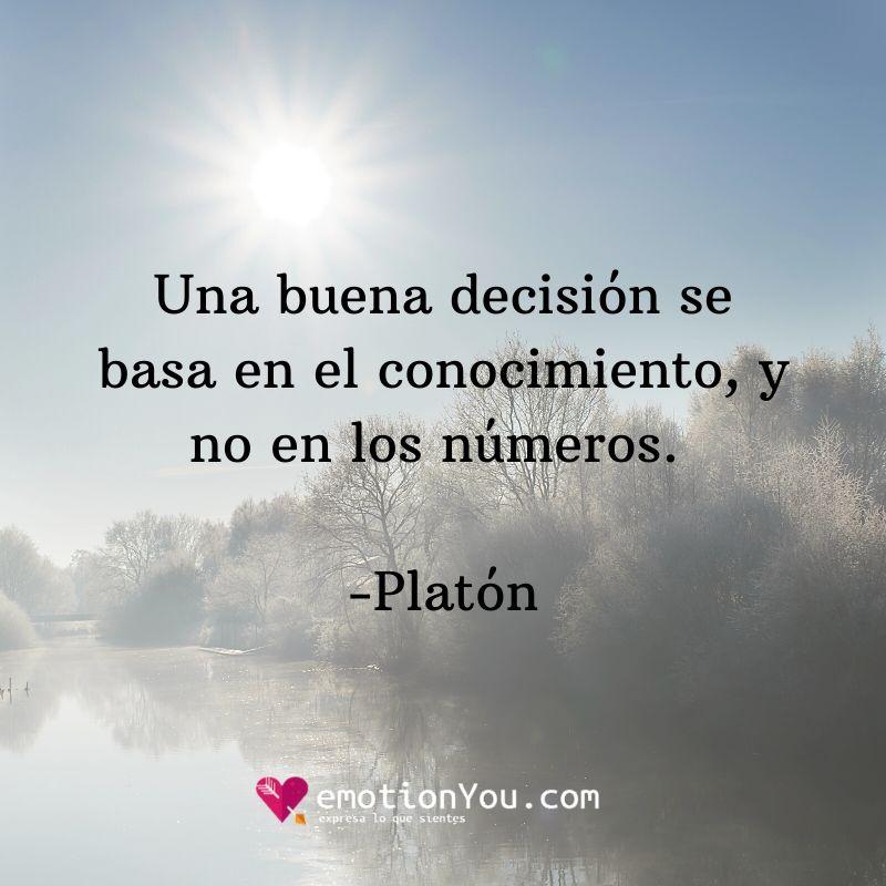 Una buena decisión