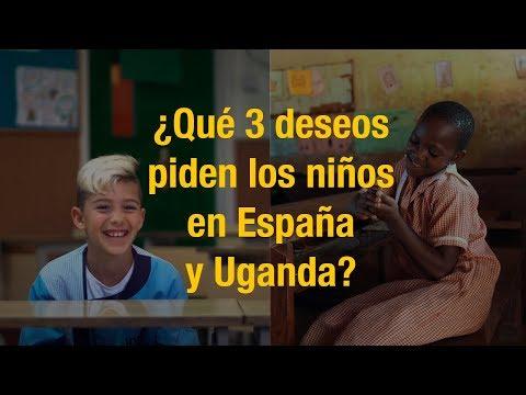 ¿Qué 3 deseos piden los niños de España y Uganda?