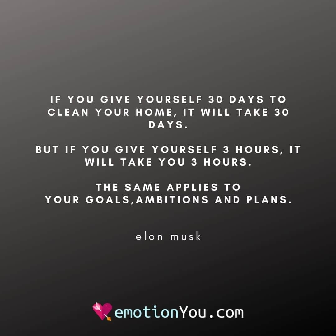 If you give yourself 30 days
