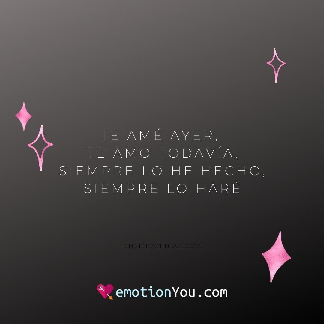 Te amé ayer